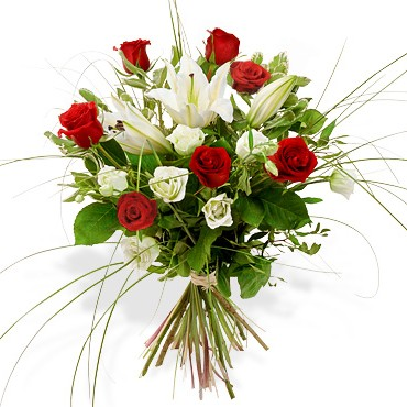 Bouquet sophia atelier de cr ations florales rose rouge for Composer bouquet en ligne